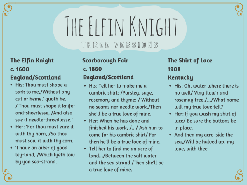 The Elfin Knight